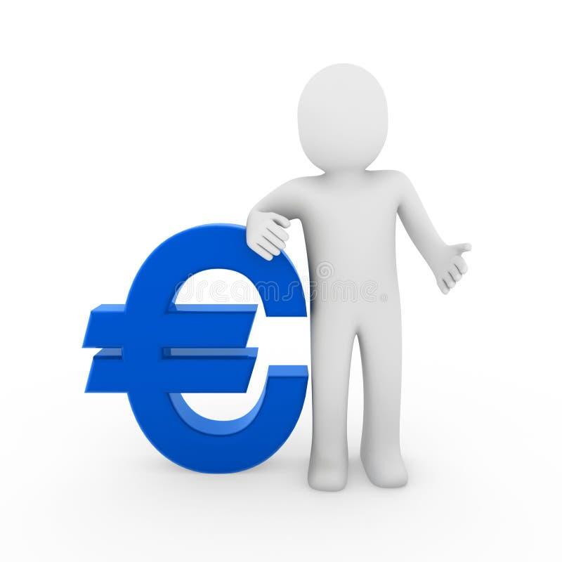 euro humano 3d ilustración del vector