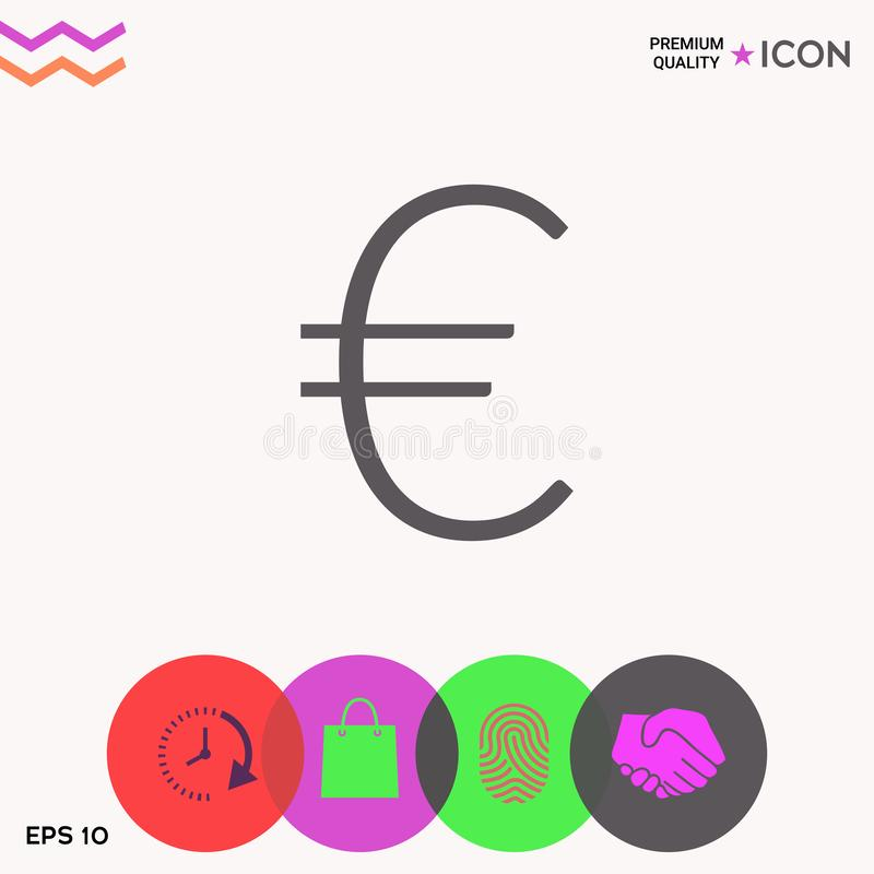 Euro icône de symbole illustration stock