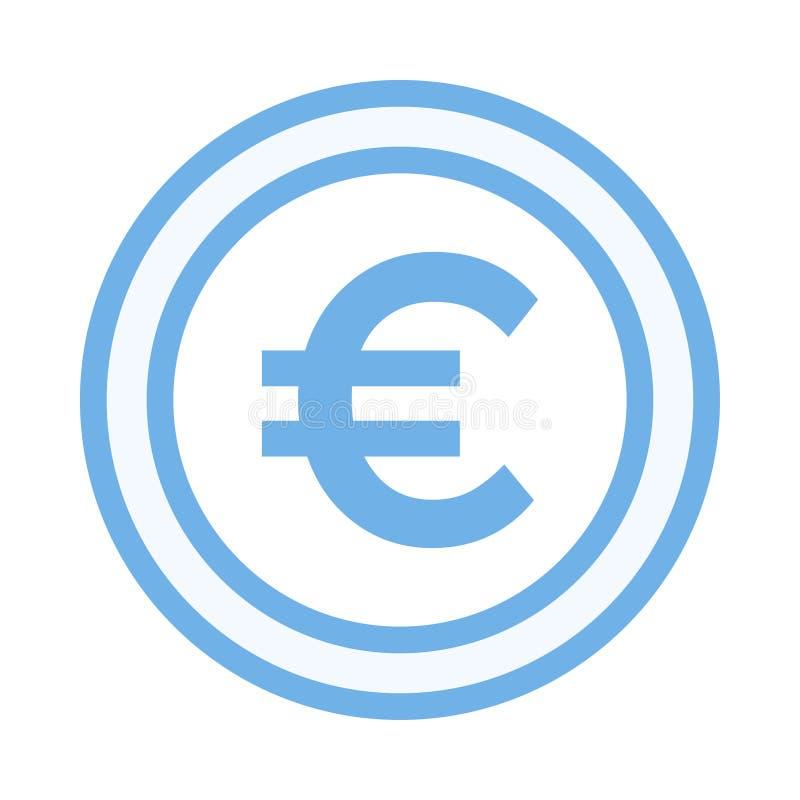 Euro icon. Euro color line icon vector illustration