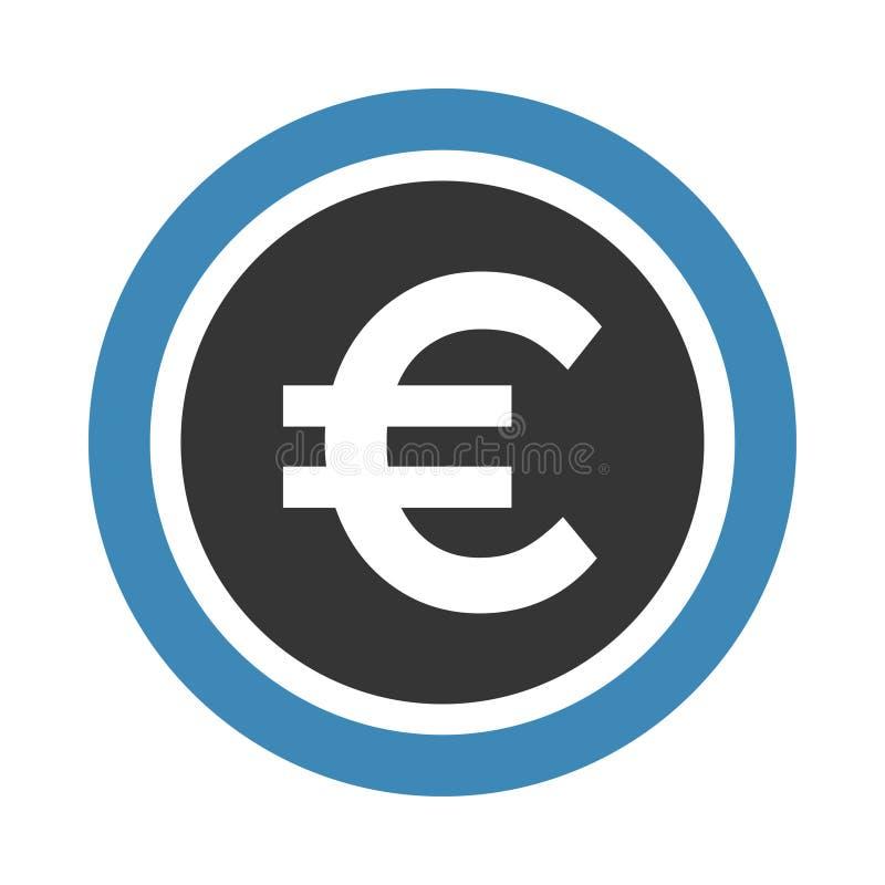 Euro icon vector illustration