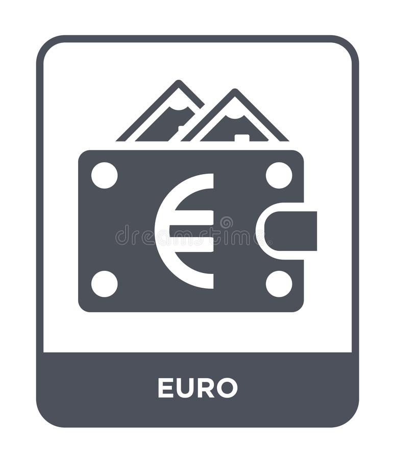 Euro icon in trendy design style. euro icon isolated on white background. euro vector icon simple and modern flat symbol for web. Site, mobile, logo, app, UI vector illustration
