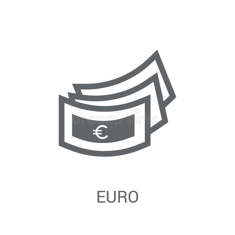 Euro icon. Trendy Euro logo concept on white background from e-commerce and payment collection vector illustration