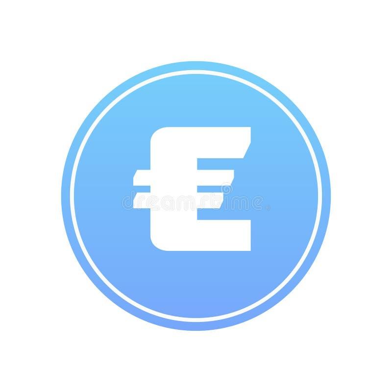 Euro icona immagini stock