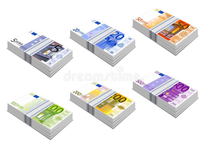 Download Euro icons stock vector. Image of euro, composition, photo - 20448026