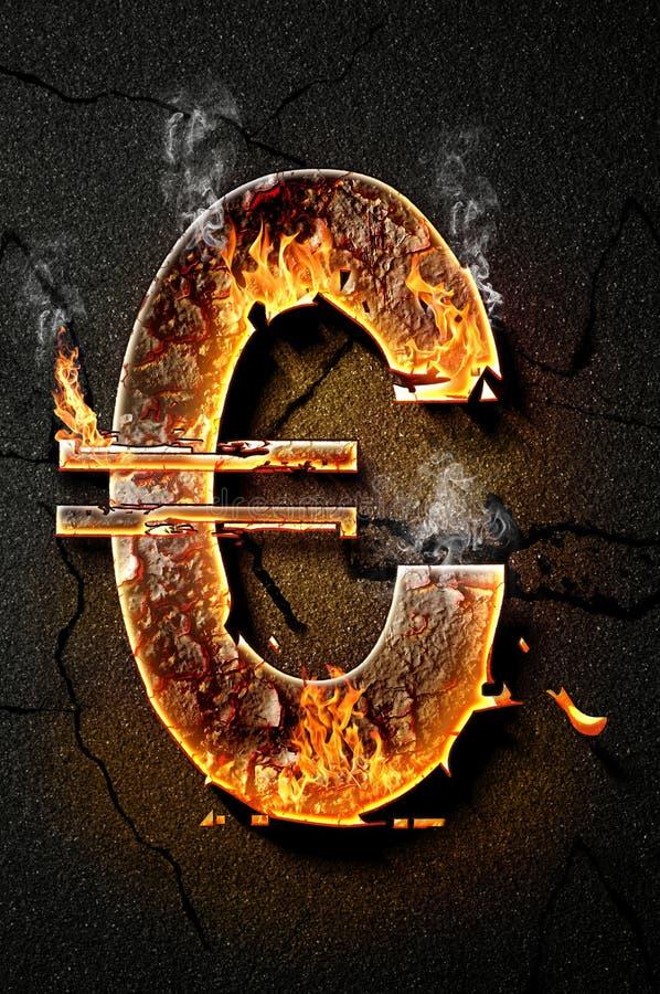 Euro ikona obrazy stock