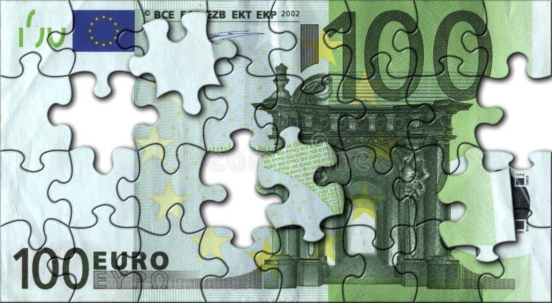 Euro jigsaw royalty free stock photos