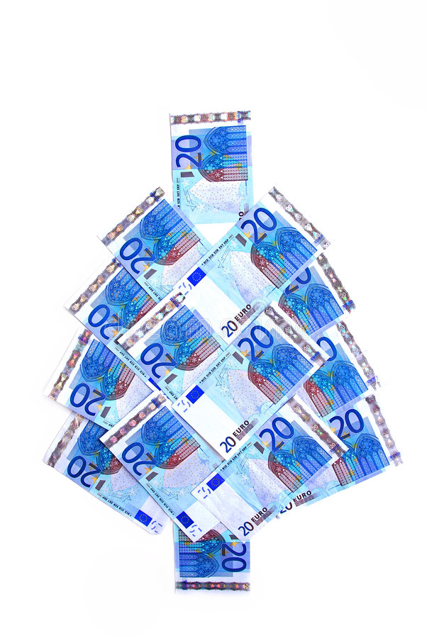 Euro Kerstmisboom stock fotografie