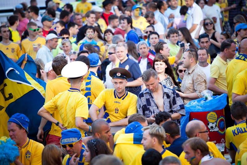 Euro-2012 in Kiev royalty free stock image