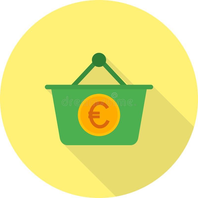 Euro kosz ilustracja wektor