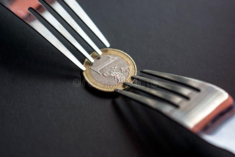 Euro kryzys fotografia royalty free