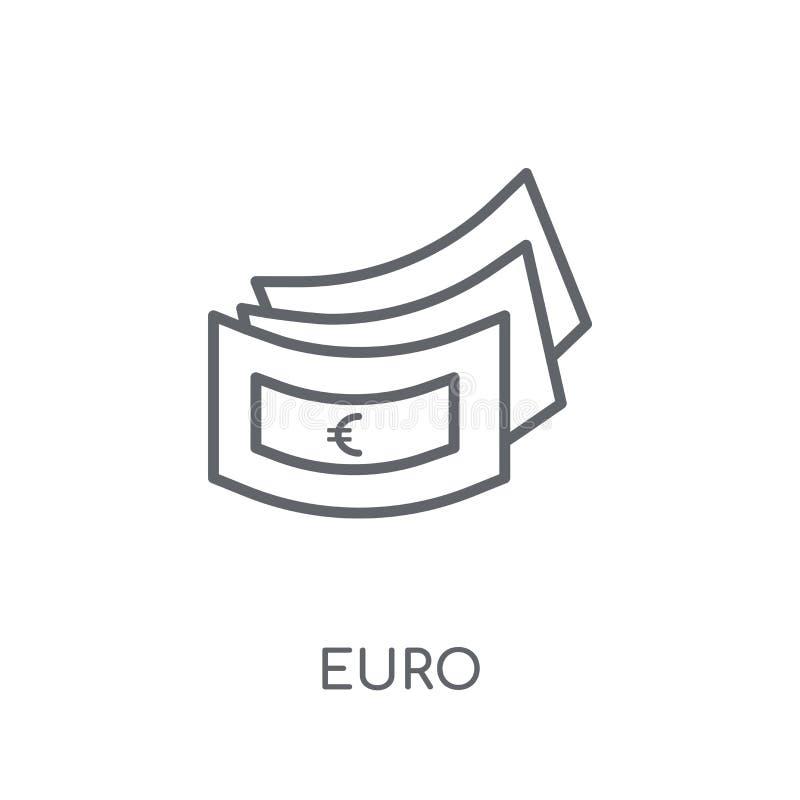 Euro liniowa ikona Nowożytnego konturu logo Euro pojęcie na bielu plecy royalty ilustracja