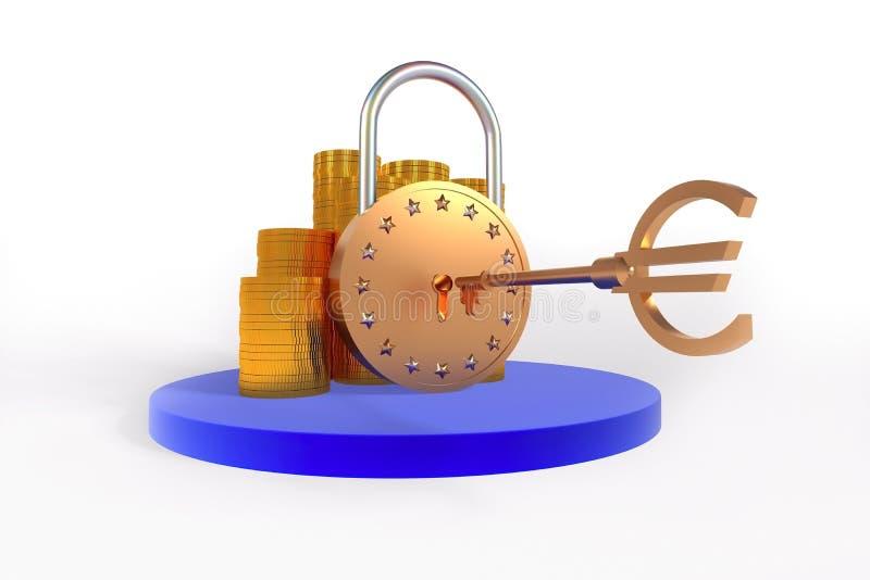 Download Euro lock stock illustration. Image of object, money - 24883639