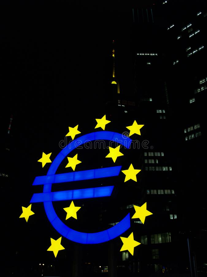 Logotipo do Euro fotos de stock royalty free