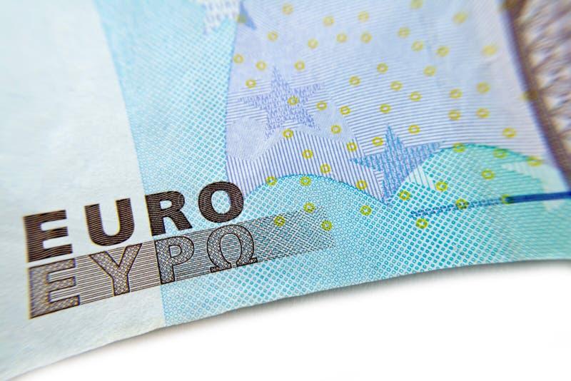 Euro macro de plan rapproché de billet de banque image libre de droits