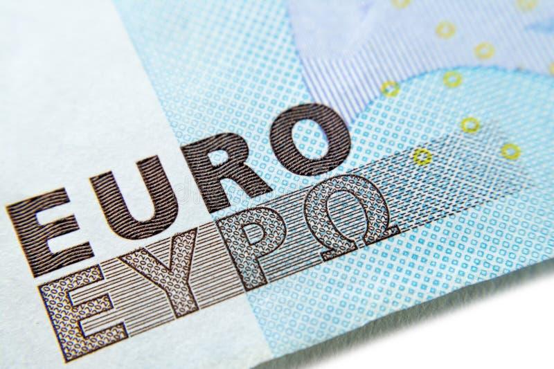 Euro macro de plan rapproché de billet de banque photos libres de droits