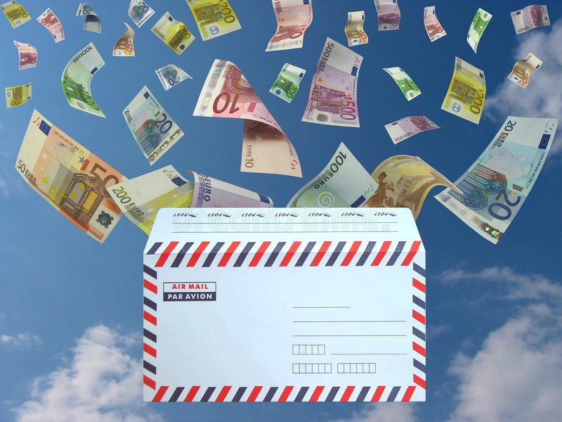 Download Euro from the mail stock illustration. Illustration of falling - 556839