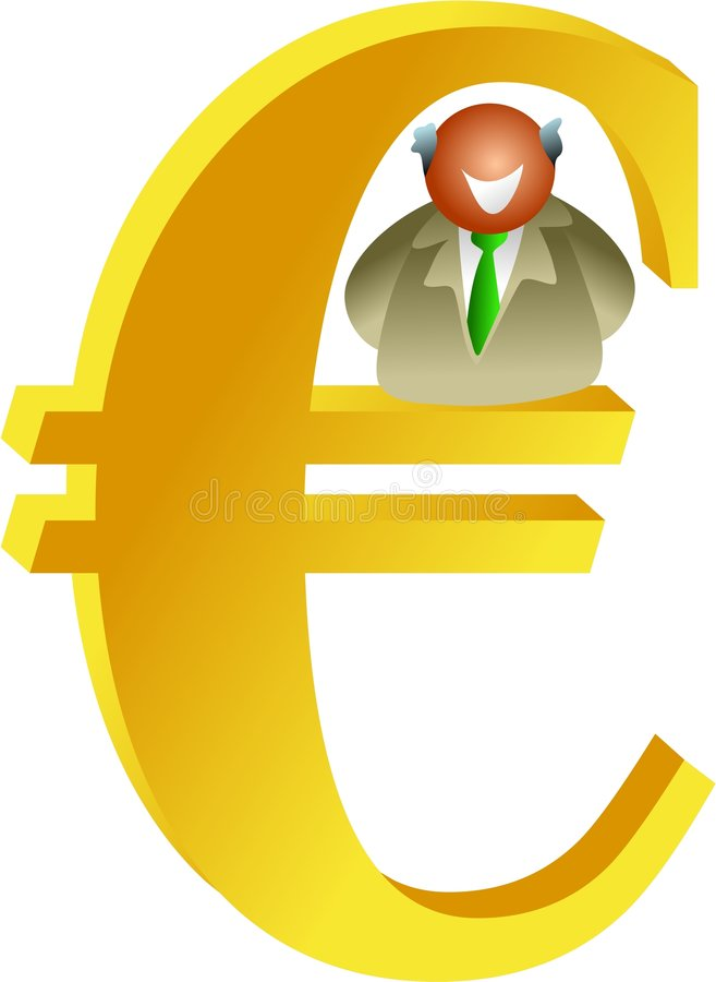 Euro Man Royalty Free Stock Image