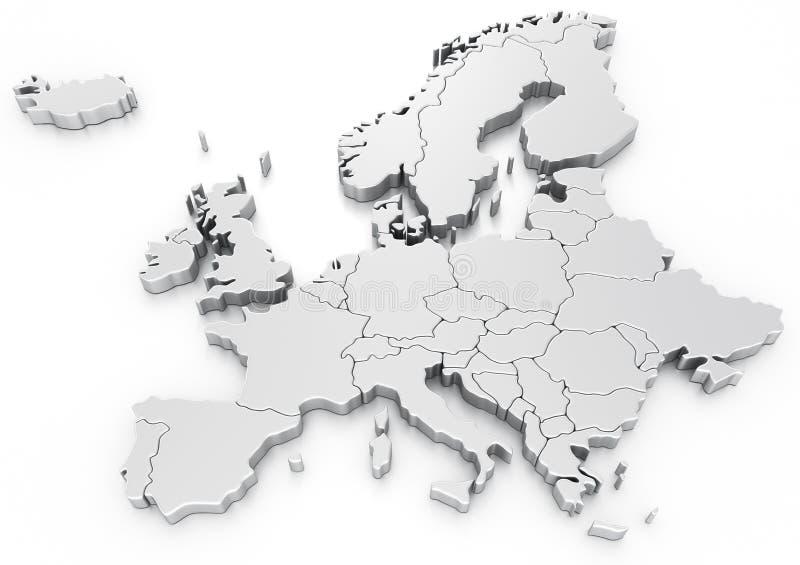 Euro- mapa ilustração do vetor