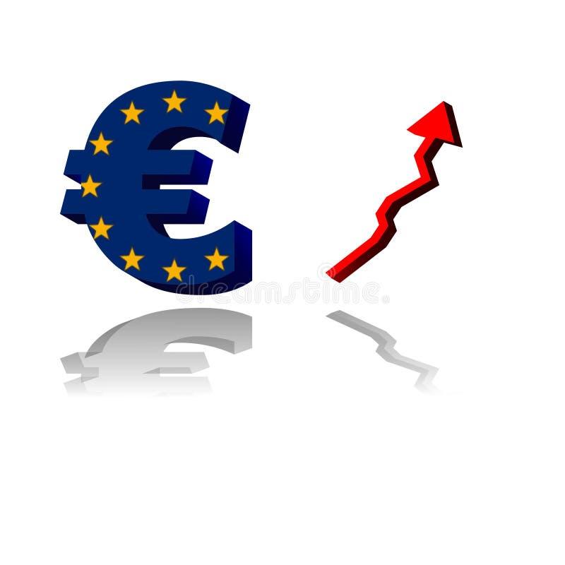 Euro market royalty free stock photography