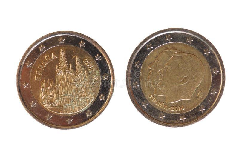 2 euro menniczy, Europejski zjednoczenie obrazy stock