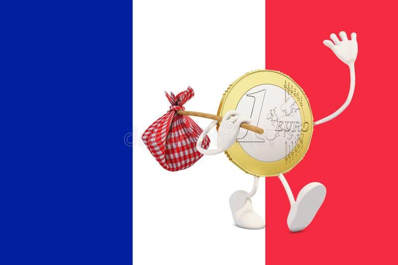 Euro menniczy opuszcza Francja zdjęcia stock
