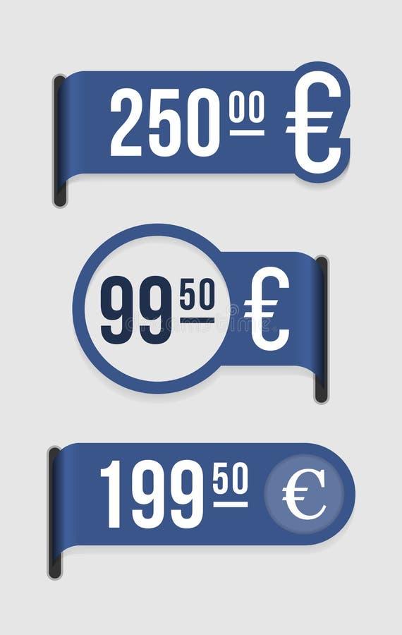 Euro moderno do â do preço ilustração do vetor