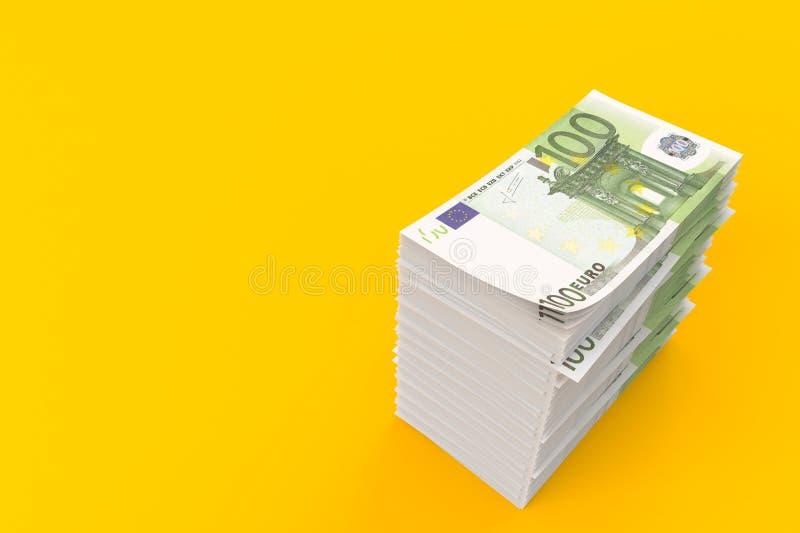 Euro- moeda ilustração royalty free