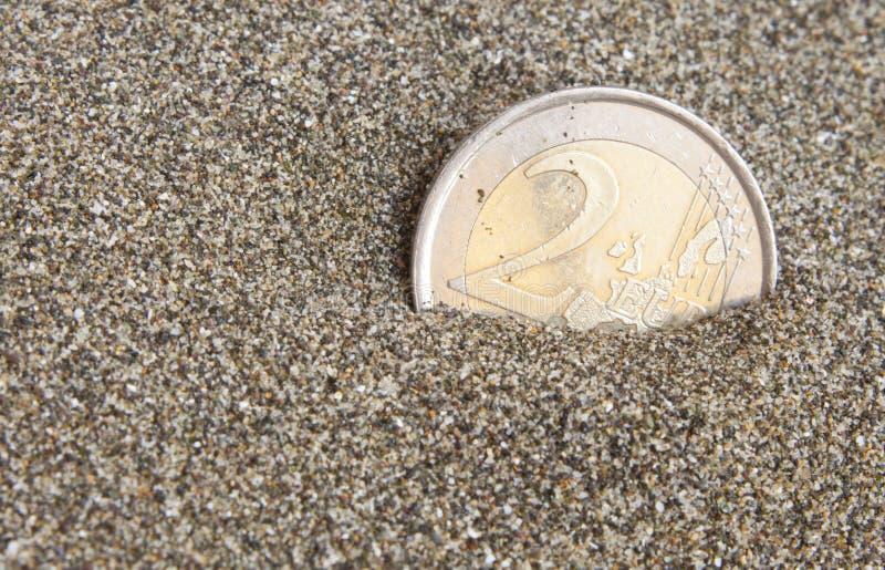 euro- moeda imagem de stock