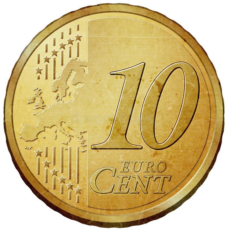 Euro- moeda ilustração do vetor