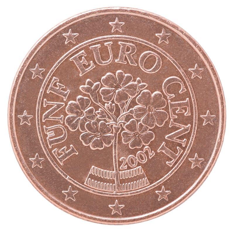 Euro- moeda do centavo imagens de stock