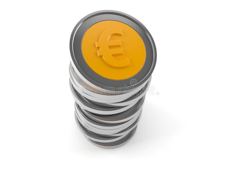 Euro- moedas ilustração stock