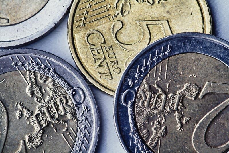 Euro- moedas foto de stock