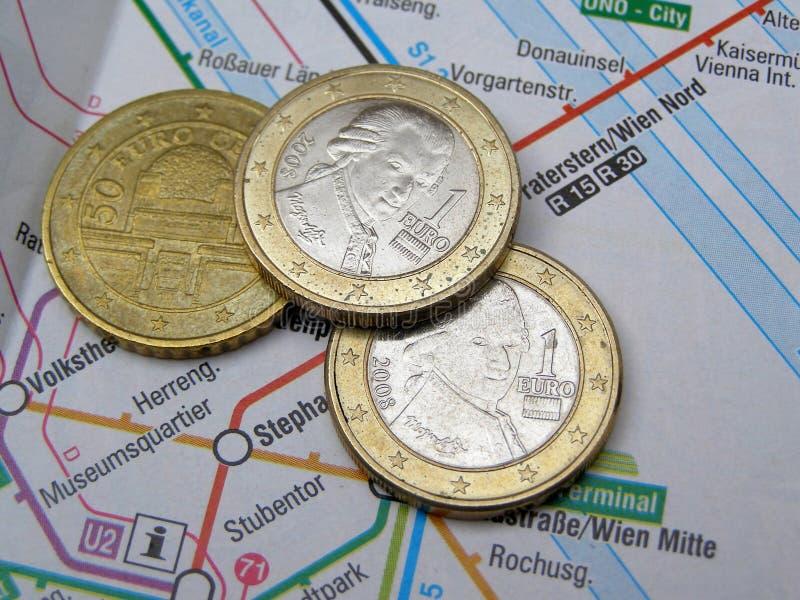 Euro- moedas austríacas fotos de stock royalty free