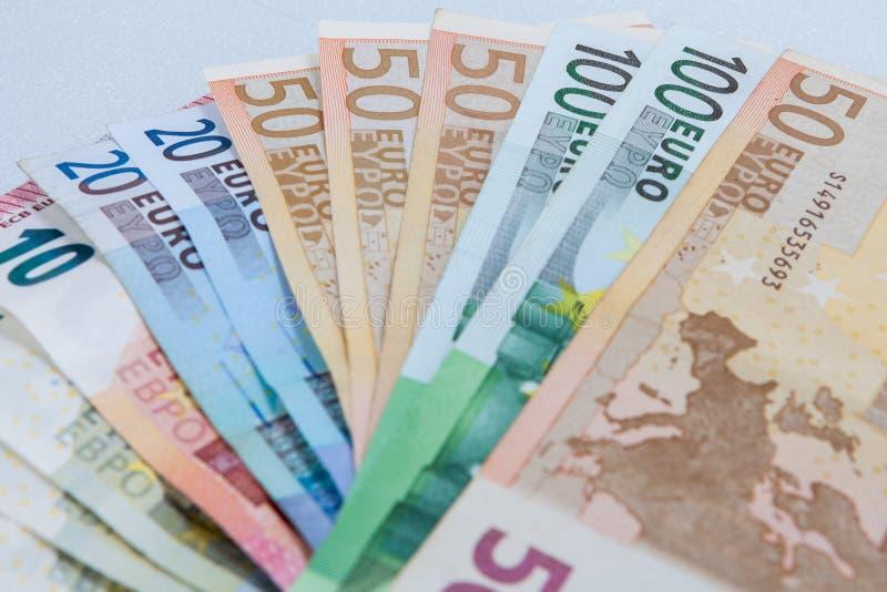 euro monay royaltyfri bild