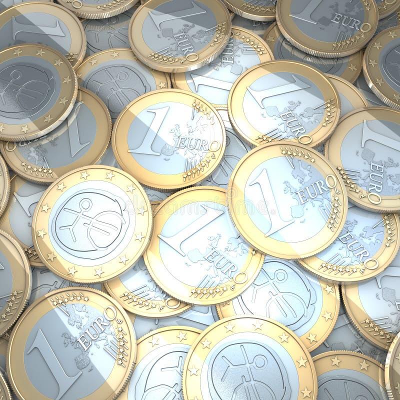 Euro monete brillanti royalty illustrazione gratis