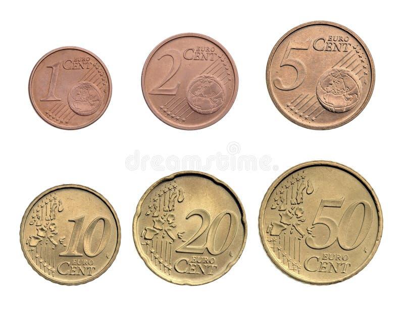 Euro monete dei centesimi immagine stock libera da diritti