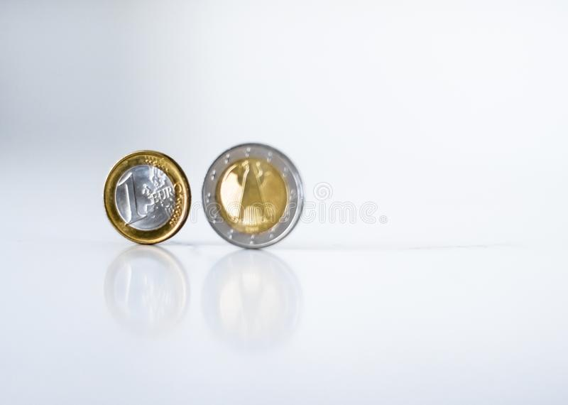 Euro monety, unii europejskiej waluta fotografia stock