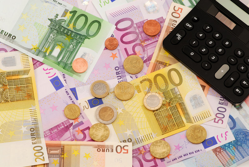 Euro money background stock photo