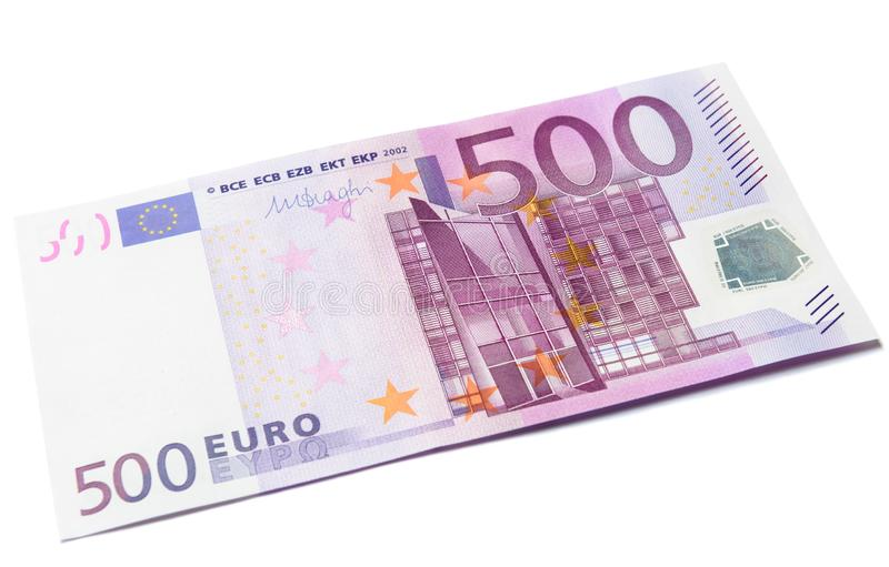 500 euro money banknote isolated on a white background stock images