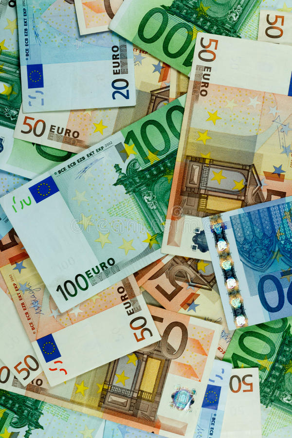 Euro Money Banknotes Background - vertical royalty free stock image