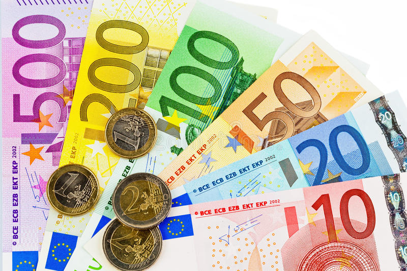 Download A fan with euro notes stock photo. Image of money, precaution - 29951466