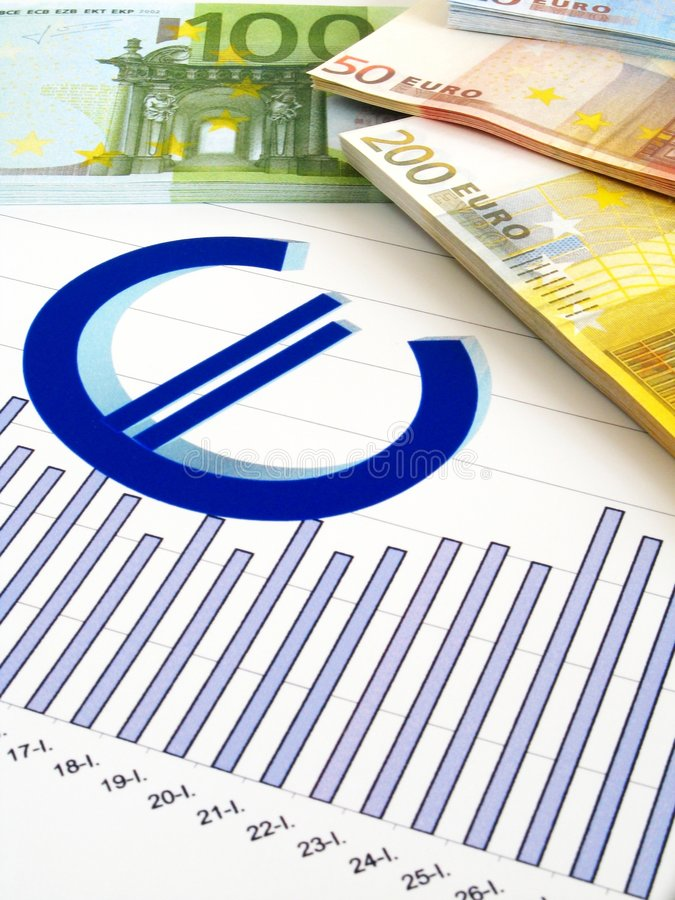 Download Euro Money And Graph - Business Report Royalty Free Stock Photo - Image: 7651345