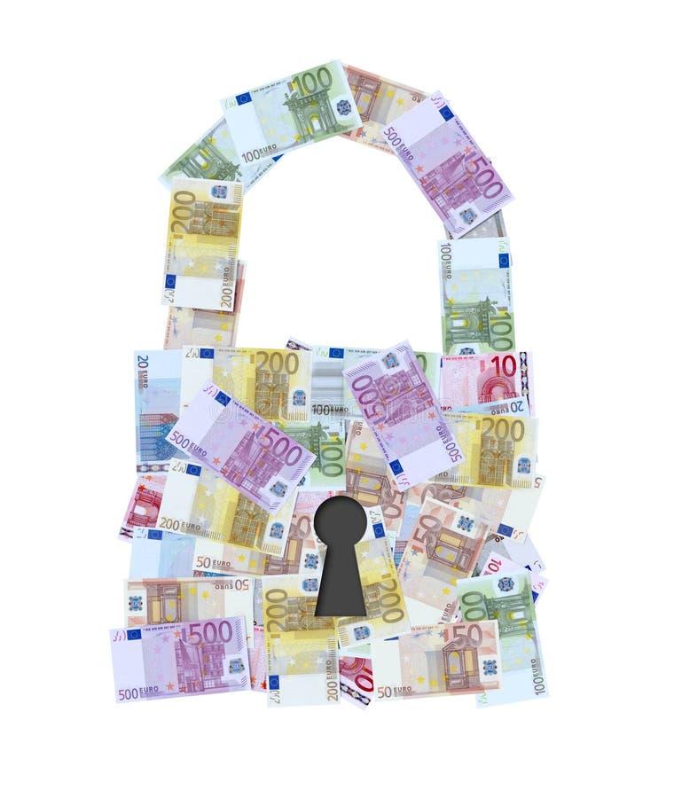 Download Euro money notes padlock stock illustration. Illustration of paper - 18876625
