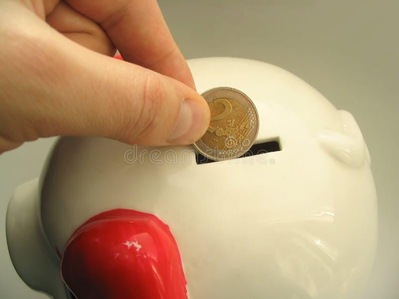 Euro money saving #2 royalty free stock photography