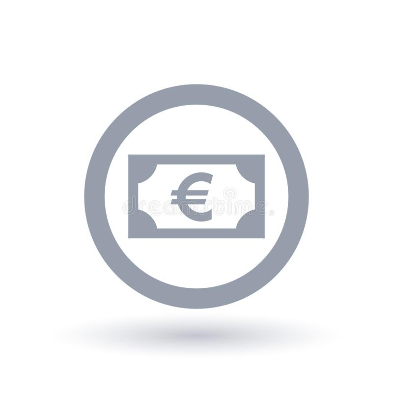 Euro Money Symbol European Paper Currency Icon Stock Vector