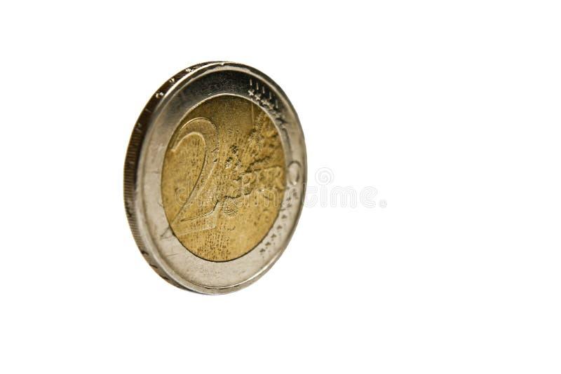 euro muntstuk 2 royalty-vrije stock foto's