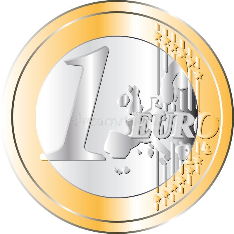 Euro Muntstuk vector illustratie