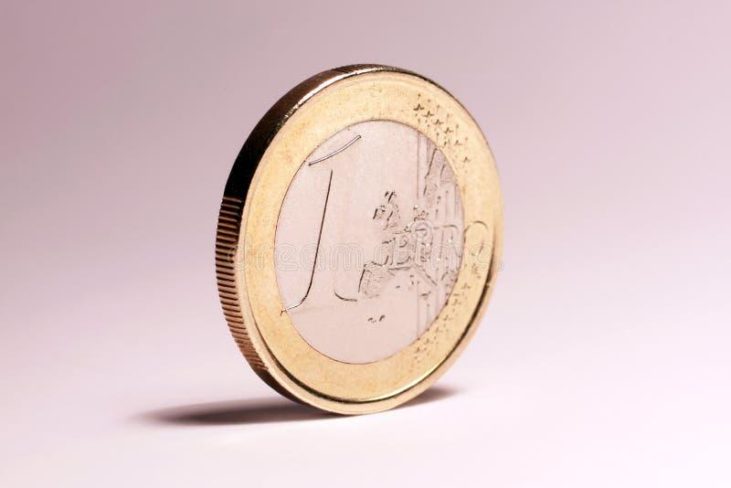 Euro muntstuk royalty-vrije stock foto