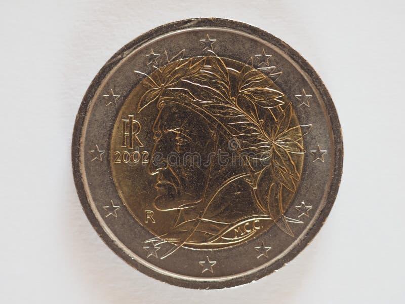 2 euro muntstuk, Europese Unie stock foto