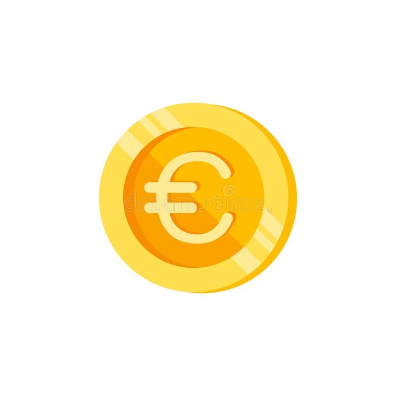 Euro, muntstuk, het pictogram van de geldkleur Element van de tekens van kleurenfinanciën Grafisch het ontwerppictogram van de pr vector illustratie